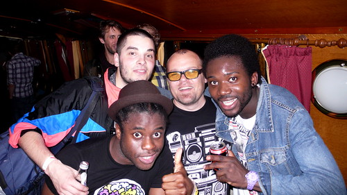 Jez with The Young Fathers