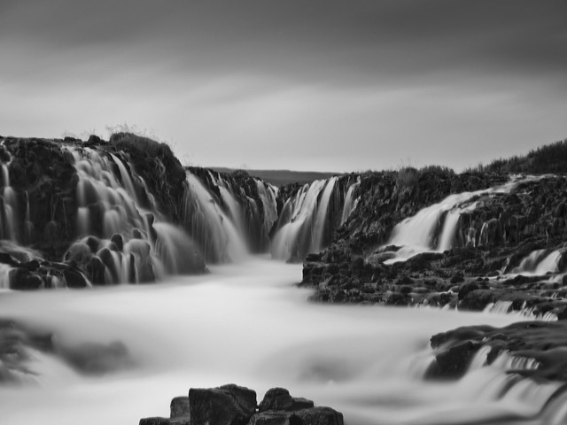 Brúarfoss in B&W