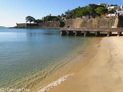 San Juan Bay with the City Walls of Old San Juan, Puerto Rico