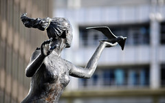 Statue Outside 1 Kingsway (Stuart Herbert) Tags: uk statue southwales wales europe shoot stu cardiff location projects afzoomnikkor80200mmf28ded cardiffcitycentre merthyrroad otherkeywords singleshotseries statuesofcardiff