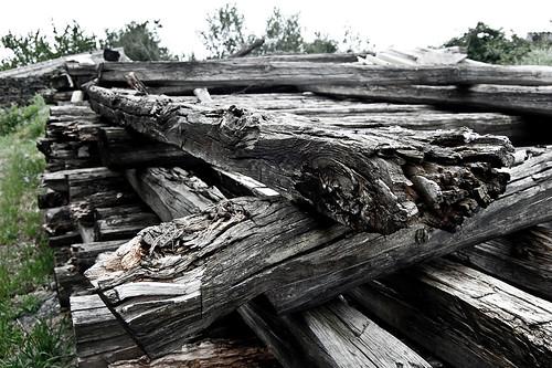 Traviesas de madera envejecidas