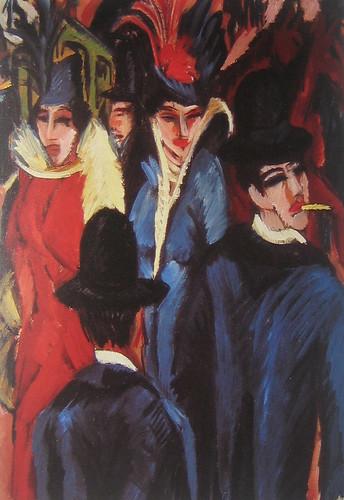 Berlin Street Scene (detail), Ernst Ludwig Kirchner, 1913-14