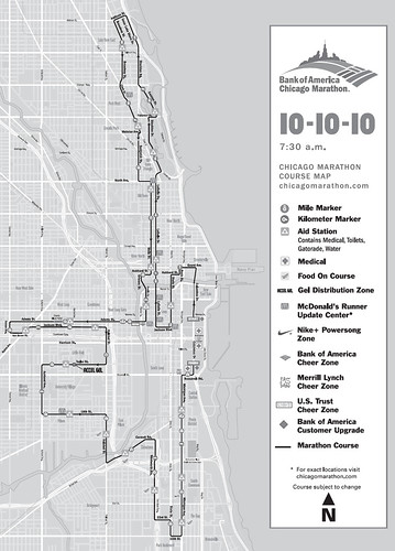 Ruta del Maratón de Chicago 2010