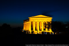 Agrigento Valley of the temples at night 2
