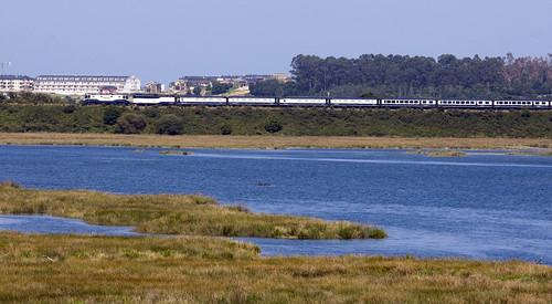El Transcantabrico - Train passing Espiñeira