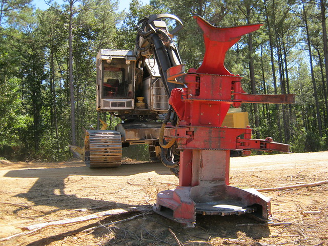 Timbco 445 Leveling Track Feller Buncher with CAT HF 221 Sawhead by Jesse Sewell