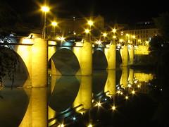 IMG_2966 (jimmy297.) Tags: bridge rio night canon river de puente noche reflex powershot reflejo ebro farolas logroo calma s90 piedra oltusfotos mygearandme ringexcellence