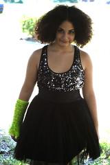 r11 (Apt To Wander) Tags: portrait black green punk dress braces boots little afro 14 grade sparkle teen cast jewish fedora eyeshadow doc 8th tutu martens reisa