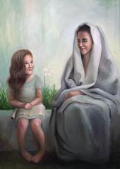 The education of the Virgin (erregiro) Tags: white saint education paint colore lily drawing picture virgin oil ann technique leo erregiro