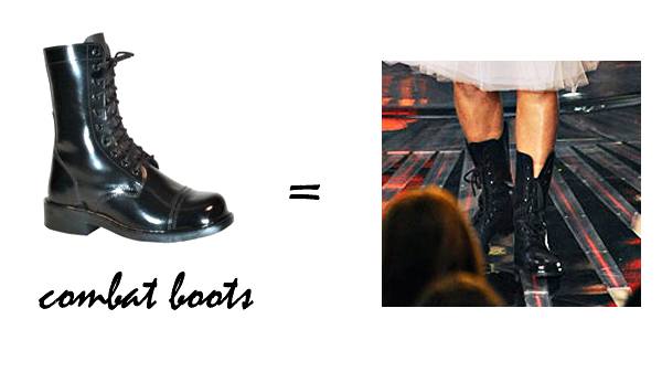 DIY RIHANNA HALLOWEEN COSTUME-4, combat boots