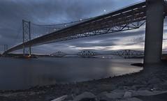 Forth Bridges at Dawn (Chris Scyner) Tags: road bridge sky river dawn scotland earlymorning bridges rail nikond70s forth lothian 2010 sigma1020f456 dsc8453 chrisscyner