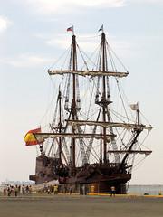 sailing (galeon andalucia) explore (DOLCEVITALUX) Tags: canon pier sevilla spain philippines andalucia replica manila 13 galleon galeon sx20is