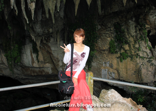 posing in front of clearwater cave