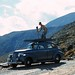 Winston Pote, famed White Mountains photographer makes use of his car to get the perfect shot.