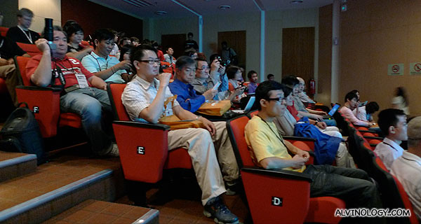 Some of the other bloggers at the other side of the auditorium
