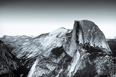 Half Dome (Diego Tabango) Tags: sf california park travel sunset bw usa mountains cali contrast point landscape outdoors blackwhite nikon rocks sigma diego glacier yosemite dome half halfdome sierras glacierpoint 70200mm tabango d700