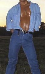 Levis n Pecs (Levilad) Tags: blue wet cowboy boots jeans converse western levi guns levis jackets allstars soaked shootout 501 501s chcks wetlads wetladz levilad leviladz levilads