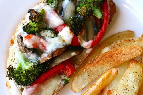 Portobello, Broccoli and Red Pepper Melts - Annie's EatsAnnie's Eats