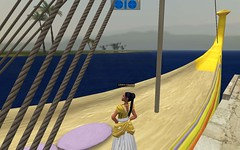 Meritaten on board the royal barge in virtual Amarna (Akhetaten) (mharrsch) Tags: boat ancient ship egypt barge 18thdynasty nefertiti akhenaten virtualworld meritaten amarna virtualenvironment mharrsch akhetaten heritagekey