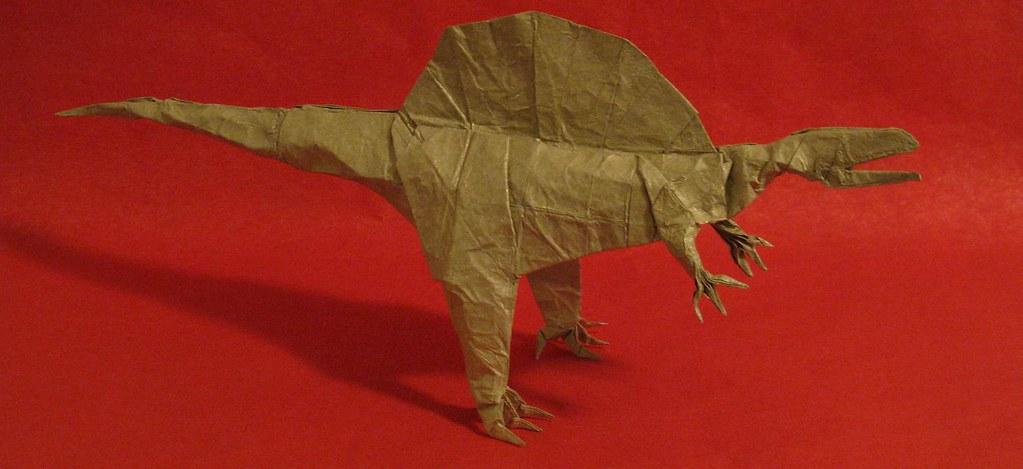 how to make origami dinosaur spinosaurus