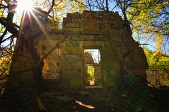 The Ruins on the Bruce Trail (Ivan Sorensen | www.ivansorensenphotography.com) Tags: door trees windows light sky sun ontario canada nature stone wall forest landscape nikon ruins rocks natural bright historic opening colourful d90 niksoftware capturenx2 nikcep