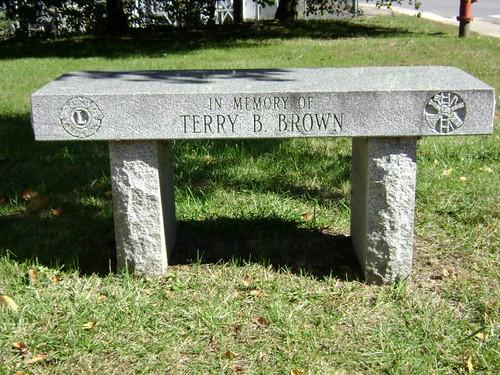TerryBrown Memorial Bench 52 101010