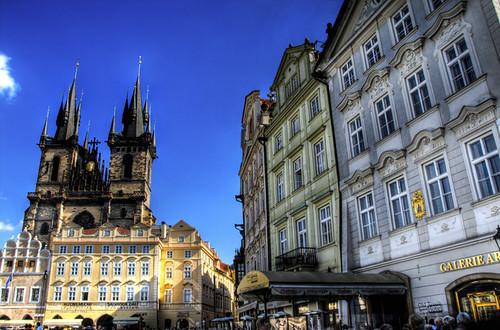 Olt town square. Prague. Plaza de la ciudad vieja. Praga