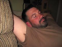 Aaron (Tobyotter) Tags: man male guy armpit pits beard friend aaron dude whiteguy aplaceforportraits peekingpits