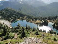 Eunice Lake from Tolmie lookout.