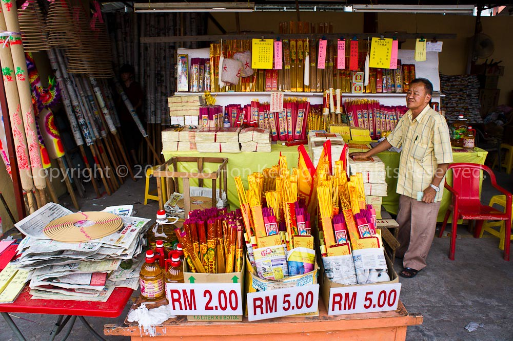 Vendor @ Nine Emperor Gods Temple, Ampang, Malaysia