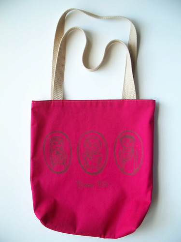 the magenta girl scout tote