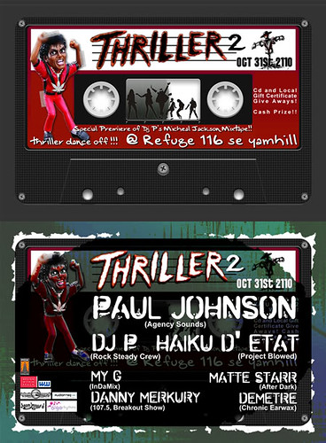 October 31: Thriller2 Portland Halloween Proper @ Refuge PDX