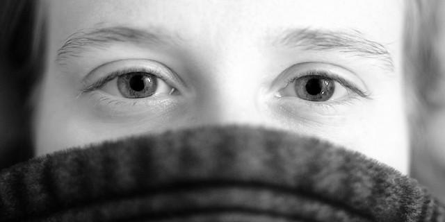 Sarah's eyes.
