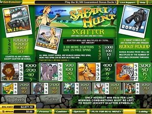 free Safari Hunt slot mini symbol