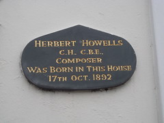 Photo of Herbert Howells black plaque