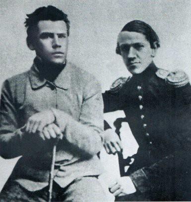 10j16 Tolstoi y su hermano Dimitri 1851