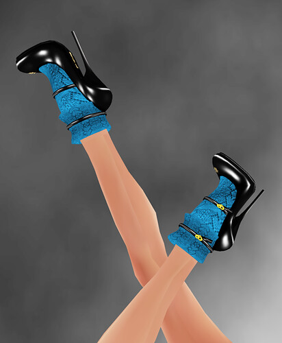 Lucky Board ::] TARA ::[ Superb High Heels Blue