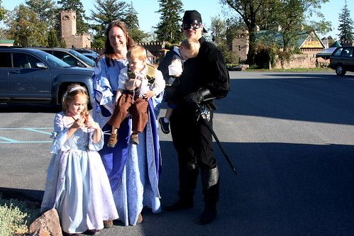 family at ren faire
