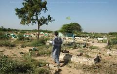 Rehri Goth graveyard (Ameer Hamza) Tags: pakistan people man men water asia getty karachi kpc ppa ameerhamzaadhia
