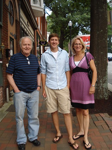 Bill, Eric & Debbie in Village Square