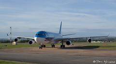 Air Tahiti Nui, A340-300 F-OSEA (vaughaag) Tags: airport october sony air international exeter tahiti a200 2010 nui a340300 fosea a200sony
