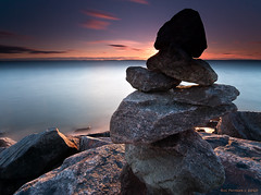 I N U K S H U K (CUCKOOPHOTHOG) Tags: camera sunset ontario canada lens landscape rocks photographer country lakes places 09 lee foundobjects filters 06 inukshuk hitech province northbay hardedge governmentdock nikond300 atx116prodx tokinaatx116 ruiferreira bigstoppernd