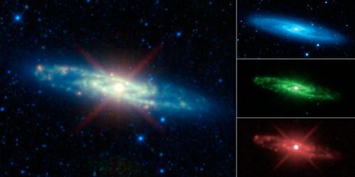 Sculptor Galaxy Seen as Infrared Rainbow