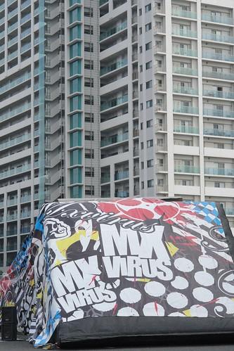 Funabashi auto festival : Free style motocross demo run