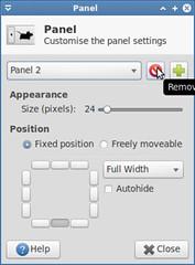 Remove bottom panel