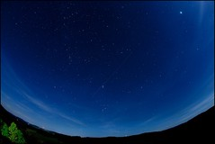 Night sky (Bettina Woolbright) Tags: longexposure sky night stars fisheye planets 3star canon15mm 5d2 canon5d2 15mmfe canon15mmfe