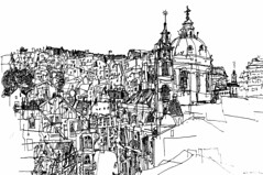 St.Nicholas Church Prague (alesmotyl) Tags: prague praha praga  praguedrawings pragueimages drawingpraguepraguesketchessketchesdrawurbansketchescityprahaartfineartdrawings praguebyalesmotyl