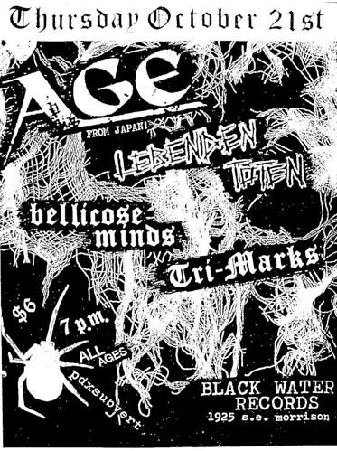 10/21/10 AGE Lebenden Toten Bellicose Minds Tri-Marks