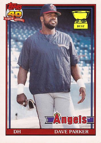 Baseball Card Bust Dave Parker 1991 Topps Traded