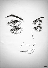Grey Scale (craniodsgn) Tags: white black eye scale illustration mouth nose four grey design eyes graphic 4 vector craniodsgn